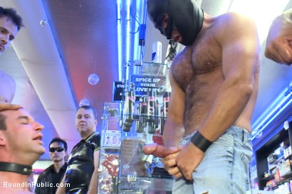 Photo number 11 from Naked Pandas Trick or Treat - Just in time for Halloween shot for Bound in Public on Kink.com. Featuring Master Avery, Jason Miller and Sebastian Keys in hardcore BDSM & Fetish porn.
