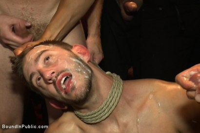 Photo number 14 from A handsome hunk gets ganged up by 100 horny men during Folsom weekend. shot for Bound in Public on Kink.com. Featuring Josh West, Jessie Colter and Bryan Cole in hardcore BDSM & Fetish porn.