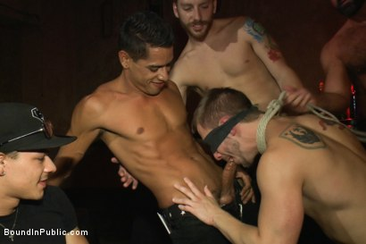 Photo number 6 from A handsome hunk gets ganged up by 100 horny men during Folsom weekend. shot for Bound in Public on Kink.com. Featuring Josh West, Jessie Colter and Bryan Cole in hardcore BDSM & Fetish porn.