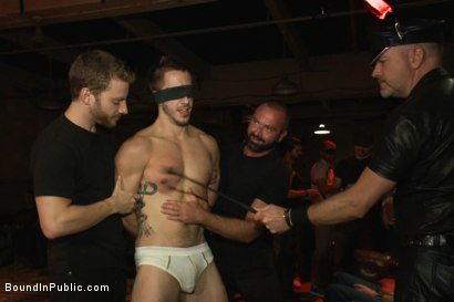 Photo number 2 from A handsome hunk gets ganged up by 100 horny men during Folsom weekend. shot for Bound in Public on Kink.com. Featuring Josh West, Jessie Colter and Bryan Cole in hardcore BDSM & Fetish porn.