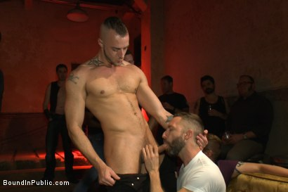 Photo number 5 from A handsome hunk gets ganged up by 100 horny men during Folsom weekend. shot for Bound in Public on Kink.com. Featuring Josh West, Jessie Colter and Bryan Cole in hardcore BDSM & Fetish porn.