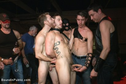 Photo number 5 from Bryan Cole is fucked in front of 100 horny men shot for Bound in Public on Kink.com. Featuring Josh West, Jessie Colter and Bryan Cole in hardcore BDSM & Fetish porn.