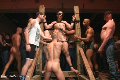 Photo number 6 from Bryan Cole is fucked in front of 100 horny men shot for Bound in Public on Kink.com. Featuring Josh West, Jessie Colter and Bryan Cole in hardcore BDSM & Fetish porn.