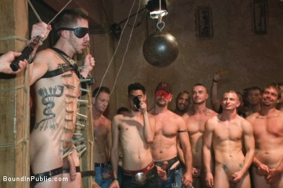 Photo number 9 from Bryan Cole is fucked in front of 100 horny men shot for Bound in Public on Kink.com. Featuring Josh West, Jessie Colter and Bryan Cole in hardcore BDSM & Fetish porn.