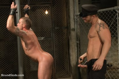 Photo number 10 from Nasty Cop and The Sex Offender shot for Bound Gods on Kink.com. Featuring Jeremy Stevens and Caleb Colton in hardcore BDSM & Fetish porn.