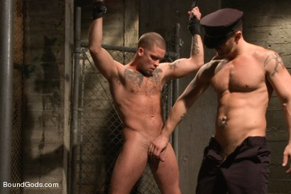 Photo number 11 from Nasty Cop and The Sex Offender shot for Bound Gods on Kink.com. Featuring Jeremy Stevens and Caleb Colton in hardcore BDSM & Fetish porn.