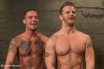 Photo number 15 from Nasty Cop and The Sex Offender shot for Bound Gods on Kink.com. Featuring Jeremy Stevens and Caleb Colton in hardcore BDSM & Fetish porn.