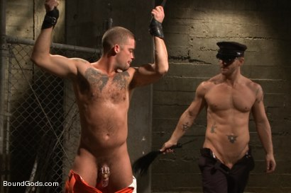 Photo number 7 from Nasty Cop and The Sex Offender shot for Bound Gods on Kink.com. Featuring Jeremy Stevens and Caleb Colton in hardcore BDSM & Fetish porn.