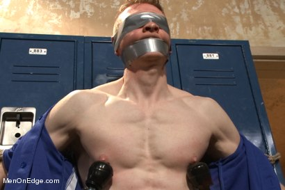 Photo number 7 from Straight Baseball Stud - Captured and Edged shot for Men On Edge on Kink.com. Featuring Rob Yaeger in hardcore BDSM & Fetish porn.