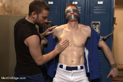 Photo number 3 from Straight Baseball Stud - Captured and Edged shot for Men On Edge on Kink.com. Featuring Rob Yaeger in hardcore BDSM & Fetish porn.