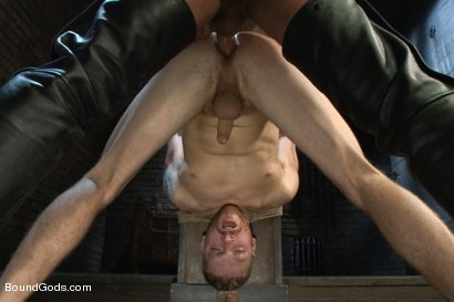 Photo number 9 from CJ Madison returns with a tight chain around his boy's neck. shot for Bound Gods on Kink.com. Featuring CJ Madison and Sebastian Keys in hardcore BDSM & Fetish porn.