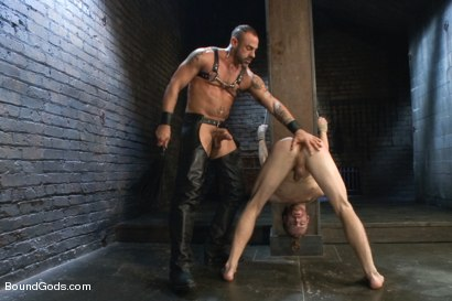 Photo number 6 from CJ Madison returns with a tight chain around his boy's neck. shot for Bound Gods on Kink.com. Featuring CJ Madison and Sebastian Keys in hardcore BDSM & Fetish porn.