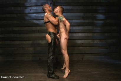 Photo number 13 from CJ Madison returns with a tight chain around his boy's neck. shot for Bound Gods on Kink.com. Featuring CJ Madison and Sebastian Keys in hardcore BDSM & Fetish porn.