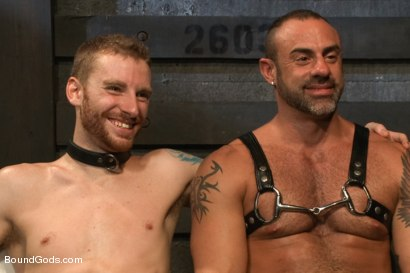 Photo number 15 from CJ Madison returns with a tight chain around his boy's neck. shot for Bound Gods on Kink.com. Featuring CJ Madison and Sebastian Keys in hardcore BDSM & Fetish porn.