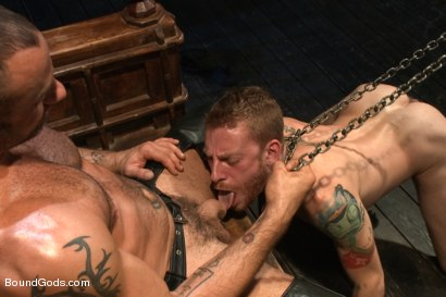 Photo number 2 from CJ Madison returns with a tight chain around his boy's neck. shot for Bound Gods on Kink.com. Featuring CJ Madison and Sebastian Keys in hardcore BDSM & Fetish porn.
