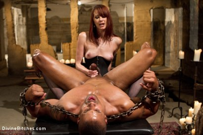Photo number 3 from A Very Long Milking: Episode 1 shot for Divine Bitches on Kink.com. Featuring Maitresse Madeline Marlowe  and Robert Axel in hardcore BDSM & Fetish porn.
