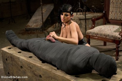 Photo number 5 from Divine Mummification Sex shot for Divine Bitches on Kink.com. Featuring Dominic Pacifico and Beretta James in hardcore BDSM & Fetish porn.