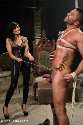 Photo number 9 from Divine Mummification Sex shot for Divine Bitches on Kink.com. Featuring Dominic Pacifico and Beretta James in hardcore BDSM & Fetish porn.