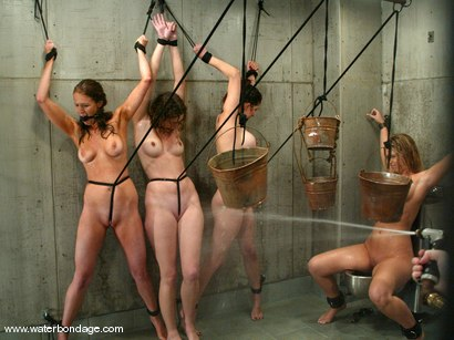 Photo number 8 from 5 Girl Shoot: Part 2 shot for Water Bondage on Kink.com. Featuring Isis Love, Jessica Sexin, Sasha Monet, Lola and Hollie Stevens in hardcore BDSM & Fetish porn.