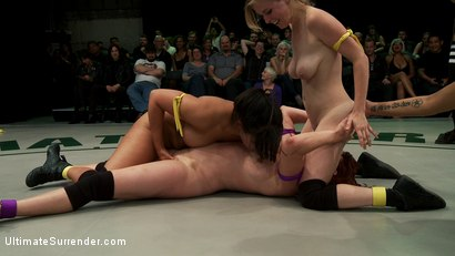Photo number 7 from Tag Team Rd 3 - Tits vs Ass shot for Ultimate Surrender on Kink.com. Featuring Penny Pax, Penny Barber, Sarah Shevon and Odile in hardcore BDSM & Fetish porn.