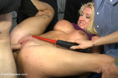 Photo number 6 from Busty Blonde Defiled in Public. Pretty Hair Used to mop up Oil shot for Public Disgrace on Kink.com. Featuring Tommy Pistol and Leya Falcon in hardcore BDSM & Fetish porn.