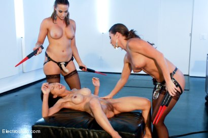 Photo number 15 from Tia Ling takes Hard Electrosex with Double Penetration! shot for Electro Sluts on Kink.com. Featuring Tia Ling, Ariel X and Chanel Preston in hardcore BDSM & Fetish porn.