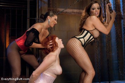 Photo number 2 from Anal Overload: Audrey Hollander shot for Everything Butt on Kink.com. Featuring Ariel X, Francesca Le  and Audrey Hollander in hardcore BDSM & Fetish porn.
