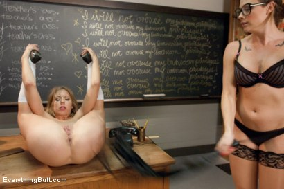 Photo number 11 from Anal Classroom shot for Everything Butt on Kink.com. Featuring Chanel Preston, Chastity Lynn and Alice Frost in hardcore BDSM & Fetish porn.