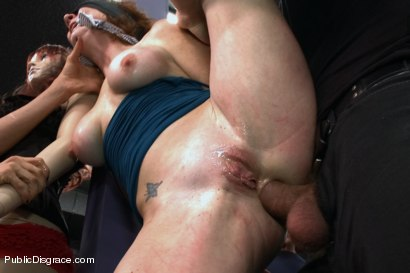 Photo number 6 from Gaping Asshole Fucked in Public shot for Public Disgrace on Kink.com. Featuring Audrey Hollander and Ramon Nomar in hardcore BDSM & Fetish porn.