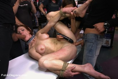 Photo number 10 from Gaping Asshole Fucked in Public shot for Public Disgrace on Kink.com. Featuring Audrey Hollander and Ramon Nomar in hardcore BDSM & Fetish porn.