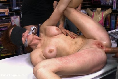 Photo number 11 from Gaping Asshole Fucked in Public shot for Public Disgrace on Kink.com. Featuring Audrey Hollander and Ramon Nomar in hardcore BDSM & Fetish porn.