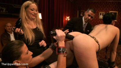 Photo number 4 from Lesbian Anal Training Party shot for The Upper Floor on Kink.com. Featuring Aiden Starr, Katharine Cane and Ariel X in hardcore BDSM & Fetish porn.