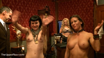 Photo number 15 from Lesbian Anal Training Party shot for The Upper Floor on Kink.com. Featuring Aiden Starr, Katharine Cane and Ariel X in hardcore BDSM & Fetish porn.