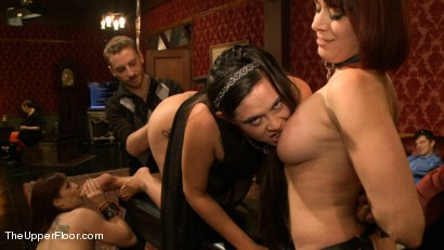 Photo number 7 from Blow Job Brunch shot for The Upper Floor on Kink.com. Featuring Bella Rossi, Odile and Danarama in hardcore BDSM & Fetish porn.
