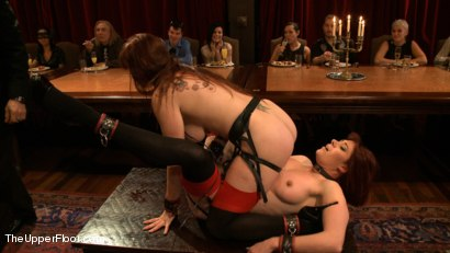 Photo number 2 from Blow Job Brunch shot for The Upper Floor on Kink.com. Featuring Bella Rossi, Odile and Danarama in hardcore BDSM & Fetish porn.