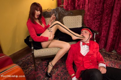 "Photo number 4 from Room 417: ""The Foot Fetishist"" shot for Foot Worship on Kink.com. Featuring John Jammen and Maitresse Madeline Marlowe in hardcore BDSM & Fetish porn."