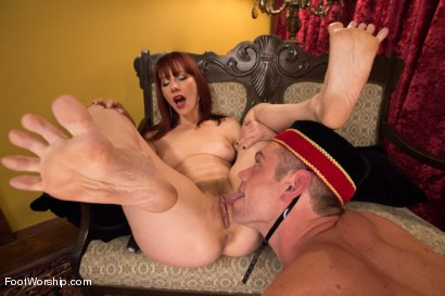 "Photo number 7 from Room 417: ""The Foot Fetishist"" shot for Foot Worship on Kink.com. Featuring John Jammen and Maitresse Madeline Marlowe in hardcore BDSM & Fetish porn."