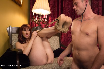 "Photo number 13 from Room 417: ""The Foot Fetishist"" shot for Foot Worship on Kink.com. Featuring John Jammen and Maitresse Madeline Marlowe in hardcore BDSM & Fetish porn."