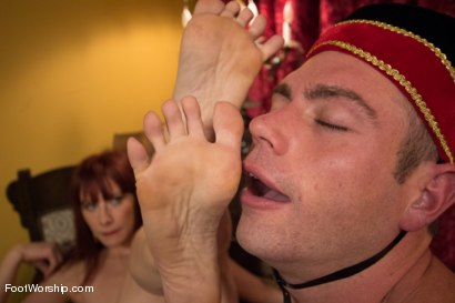 "Photo number 6 from Room 417: ""The Foot Fetishist"" shot for Foot Worship on Kink.com. Featuring John Jammen and Maitresse Madeline Marlowe in hardcore BDSM & Fetish porn."