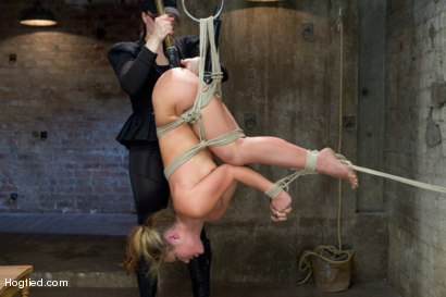 Photo number 8 from Blonde fuck slut squeals and begs to cum.  shot for Hogtied on Kink.com. Featuring Sheena Shaw in hardcore BDSM & Fetish porn.