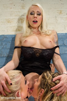 Photo number 6 from The Audition shot for Whipped Ass on Kink.com. Featuring Sheena Shaw, Lorelei Lee and Leya Falcon in hardcore BDSM & Fetish porn.