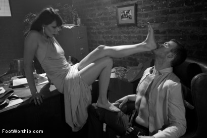 Photo number 4 from Kiss My Feet Deadly shot for Foot Worship on Kink.com. Featuring Maitresse Madeline Marlowe  and Christian Wilde in hardcore BDSM & Fetish porn.