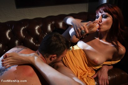 Photo number 9 from Kiss My Feet Deadly shot for Foot Worship on Kink.com. Featuring Maitresse Madeline Marlowe  and Christian Wilde in hardcore BDSM & Fetish porn.
