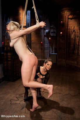 Photo number 15 from Alice Aims to Please shot for Whipped Ass on Kink.com. Featuring Bobbi Starr and Alice Frost in hardcore BDSM & Fetish porn.