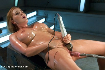 Photo number 13 from Meaty Pussy Pounded by Machine Powered Cock shot for Fucking Machines on Kink.com. Featuring Krissy Lynn in hardcore BDSM & Fetish porn.