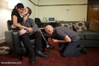 Photo number 1 from A Cuckold's Reality shot for Divine Bitches on Kink.com. Featuring Beretta James, Sean Spurt and Wolf Hudson in hardcore BDSM & Fetish porn.