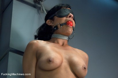 Photo number 3 from The Loaded Gun of Orgasms: Hot Girl Machine shagged in Bondage shot for Fucking Machines on Kink.com. Featuring Beretta James in hardcore BDSM & Fetish porn.