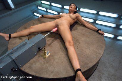 Photo number 5 from The Loaded Gun of Orgasms: Hot Girl Machine shagged in Bondage shot for Fucking Machines on Kink.com. Featuring Beretta James in hardcore BDSM & Fetish porn.