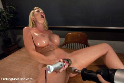 Photo number 5 from Luscious GIANT Breasts Tied, Clamped, Fucked and Oiled UP shot for Fucking Machines on Kink.com. Featuring Courtney Taylor in hardcore BDSM & Fetish porn.