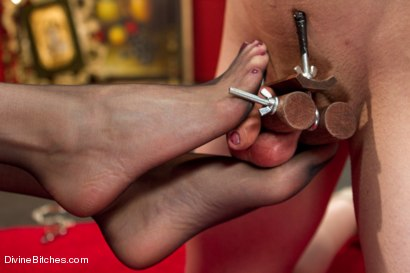 Photo number 3 from Oops, she did it again: Prostate Milking shot for Divine Bitches on Kink.com. Featuring Maitresse Madeline Marlowe  and Mirko in hardcore BDSM & Fetish porn.